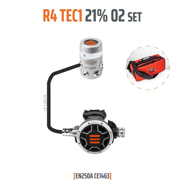Bild von TecLine - REGULATOR R4 TEC1 21% O2 G5/8, STAGE SET - EN250A