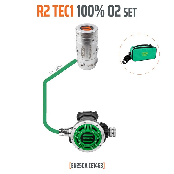 Bild von TecLine - REGULATOR R2 TEC1 100% O2 M26X2, STAGE SET - EN250A